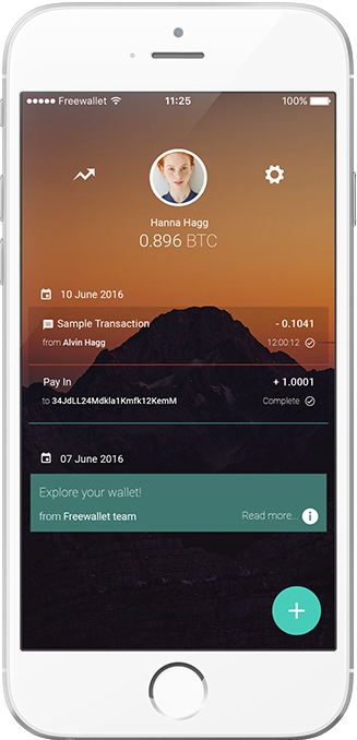 Freewallet Bitcoin app