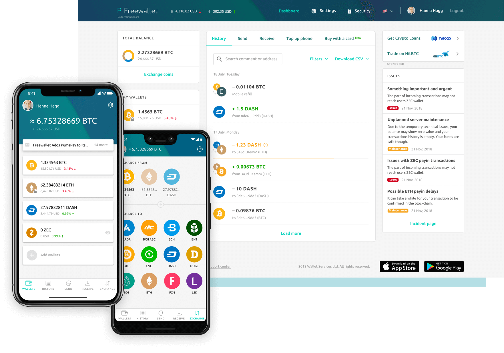 Freewallet | Multi-currency Online Crypto Wallet for BTC