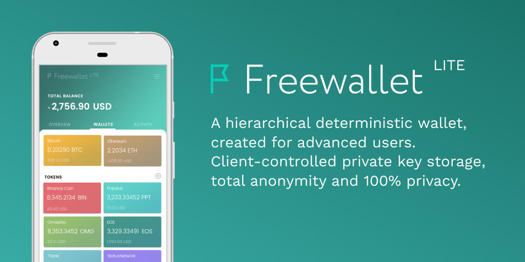 Lite Wallet for iOS and Android | Freewallet